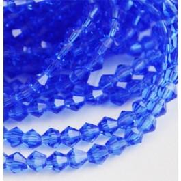 Lihvitud romb 4x4mm sinine, 10 tk