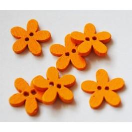 Puuhelmes-nööp 15x14mm oranz, 4 tk