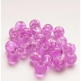Mõraline klaashelmes  lillakasroosa, 6mm, 10 tk