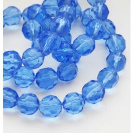Lihvitud klaashelmes 12mm sinine, 1 tk