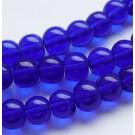 Ümar klaashelmes lillakas-sinine, 6mm, 10 tk