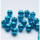 Sinine akrüülpärl 6mm, 10 tk