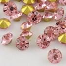 Klaaskristall 2,6mm, roosa, 10 tk