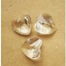 Lihvitud südamekujuline helmes 14mm, 1 tk
