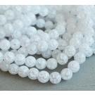 Kvarts 8mm sünteetiline, mõraline valge, 1 tk