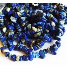 Lasuriidi (Lapis Lazuli) chipsid 5-8mm looduslik värvitud nööril u 41 cm - 1 tk