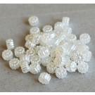 Akrüülhelmes Lill pärliläikeline 6x4mm valge,  20 tk