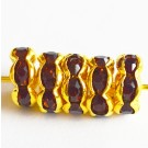 Kivikestega messingist vahehelmes 8x3,8mm pruun-kuldne, 1 tk