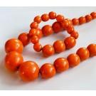 Puuhelmed 30-12mm oranžid käevõruga,  1 tk  Ei saa saata maksikirjaga