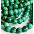 Ahhaat 8mm looduslik värvitud  roheline, 1 tk