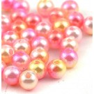 Akrüülpärl 6mm roosa-kollane, ava 1,6mm, 30 tk