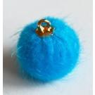 Tutt-ripats kuldse aasaga 16-17x13-14mm naaritsa imitatsioon, sinine, 2 tk