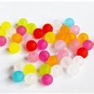 Akrüülhelmes 6mm läbikumav matistatud, erinevad värvid, ava 1 mm, 50 tk