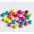 Puuhelmes 6x5mm, ava 2mm, erinevad värvid, 50 tk