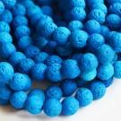 Laavakivi 8mm looduslik, värvitud, sinine, ava 1mm, 1 tk
