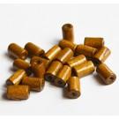 Puuhelmes 10x6mm pruun, ava 2mm, 30 tk