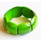 Akrüülist käevõru, helmed 29x23mm, roheline,  1 tk   Ei saa saata maksikirjaga