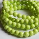 Klaashelmes ümar 8mm värvitud roheline, ava 1mm,  10 tk