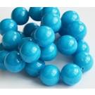 Jadeiit 14mm looduslik, värvitud  sinine, ava 1 mm, 1 tk