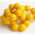 Jadeiit 14mm looduslik, värvitud  kollane, ava 1 mm, 1 tk