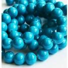 Jadeiit 16mm looduslik,ümar, värvitud sinine, ava 1mm, 4 tk