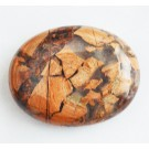 India Ahhaat 44-46x34-36x15-17mm looduslik lapik auguta värvitud kivi, 1 tk   Ei saa saata liht- ega tähitud maksikirjaga.