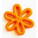 Akrüülhelmes Lill 31x28x4mm, oranž, ava 1,5mm, 2 tk