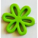 Akrüülhelmes Lill 31x28x4mm, roheline, ava 1,5mm, 2 tk