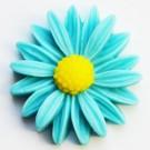 Kunstvaigust liimitav lill 26x27mm sinine, 1 tk