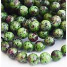 Rubiin-Tsoisiit 10-11mm looduslik värvitud, ava 1mm, 1 tk