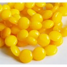 Jadeiit 10x8mm lapik, looduslik, värvitud kollane, 8 tk
