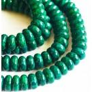 Marmor 10x8mm looduslik, värviline roheline, ava 1mm, 10 tk