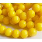 Jadeiit 16mm looduslik,ümar, värvitud kollane, ava 1mm, 4 tk