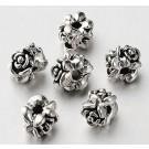 Metallist vahehelmes 7x6mm, ava 2mm, antiikhõbedane,  1 tk