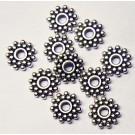 Antiikhõbedane metallist vahehelmes 9mm, ava 2,5mm, 10 tk