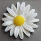 Kunstvaigust liimitav lill 26x27mm valge, 1 tk