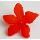 Akrüülhelmes Lill 28x7mm, ava 1,3mm punane, 1 tk