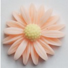 Kunstvaigust liimitav lill 26x27mm oranžikasroosa, 1 tk