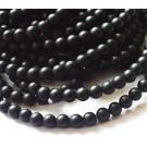 Must kivi sünteetiline 4mm, matistatud, ava 1mm, pakis 10 tk
