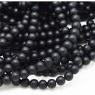 Must kivi sünteetiline 6mm, matistatud, ava 1mm, pakis 10 tk