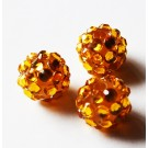 Kivikestega akrüülhelmes 12-11mm, ava 2-2,5mm oranž, pakis 1 tk