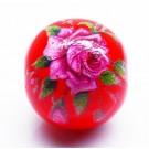 Lilleline klaashelmes 12~12.5x11.5mm, ava 1.4mm, punane, 1 tk