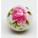 Lilleline klaashelmes 8~8.5x7.5mm, ava1.4mm, valge roosa, 1 tk