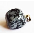 Lumehelbe Obsidian ripats 23x13mm, looduslik, 1 tk