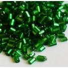 Hiina seemnehelmed torukujulised 2-2,5x2mm roheline/hõbedane, ava 0,5mm, pakis 5 gr.