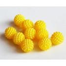 Akrüülhelmes 9,5-10mm pärliläikeline mummuline kollane, pakis 10 tk