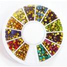 Kunstvaigust liimitavad koonusekujulised kristallid, 12 erinevat värvi, pakis 1 karp