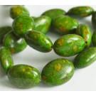 Türkiis 20x15mm looduslik värvitud roheline, - 1 tk
