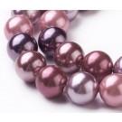 Teokarp pärl 9-10mm Old Rose, ava 1mm,  pakis 18 tk