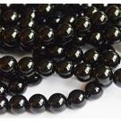 Ahhaat 10mm looduslik, värvitud must, ava 1mm, pakis 1 tk